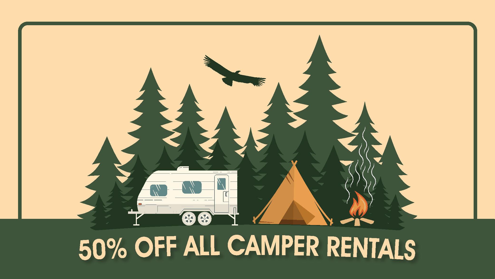 50% Off Camper Rentals