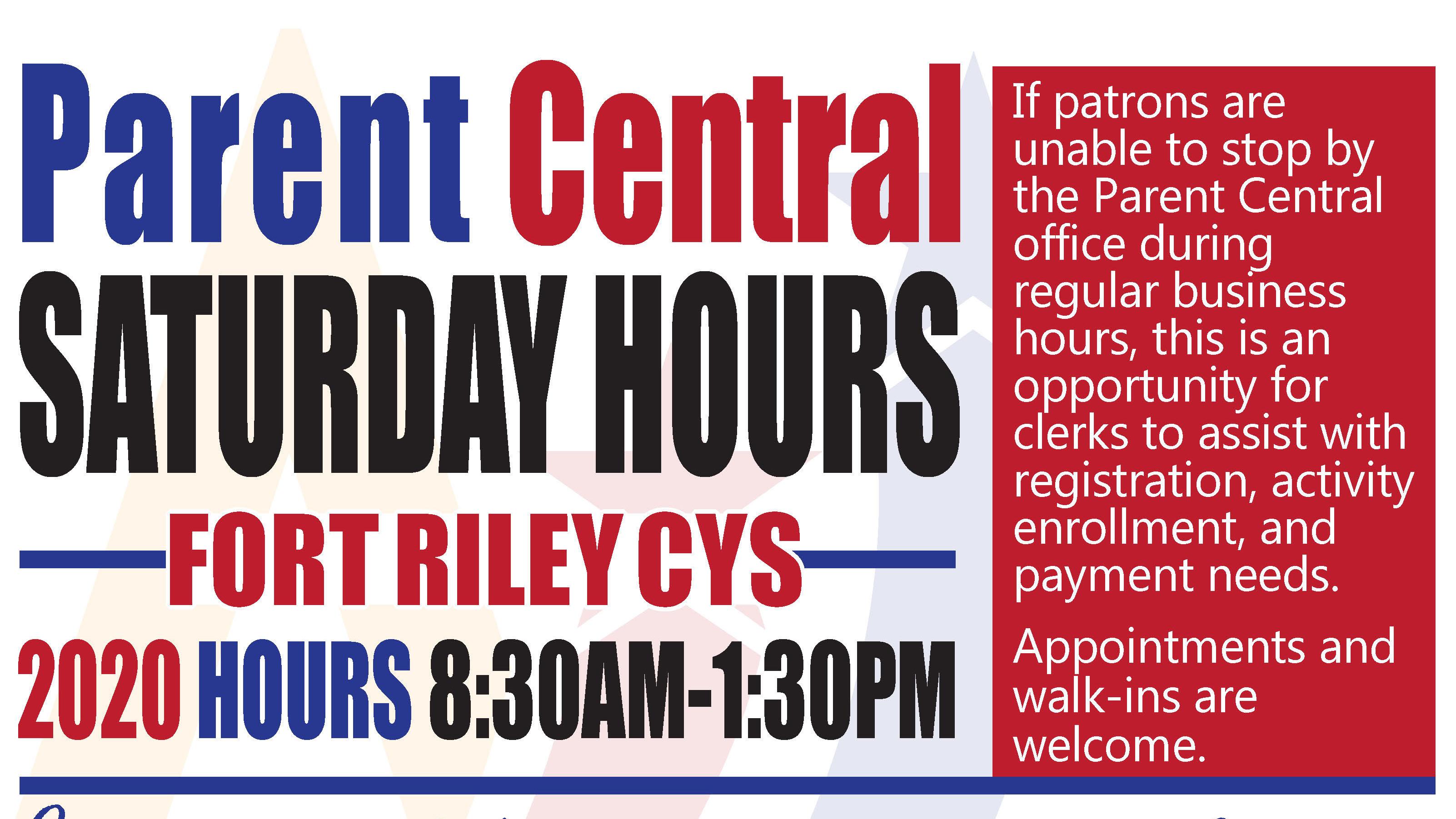 Parent Central Saturday Hours