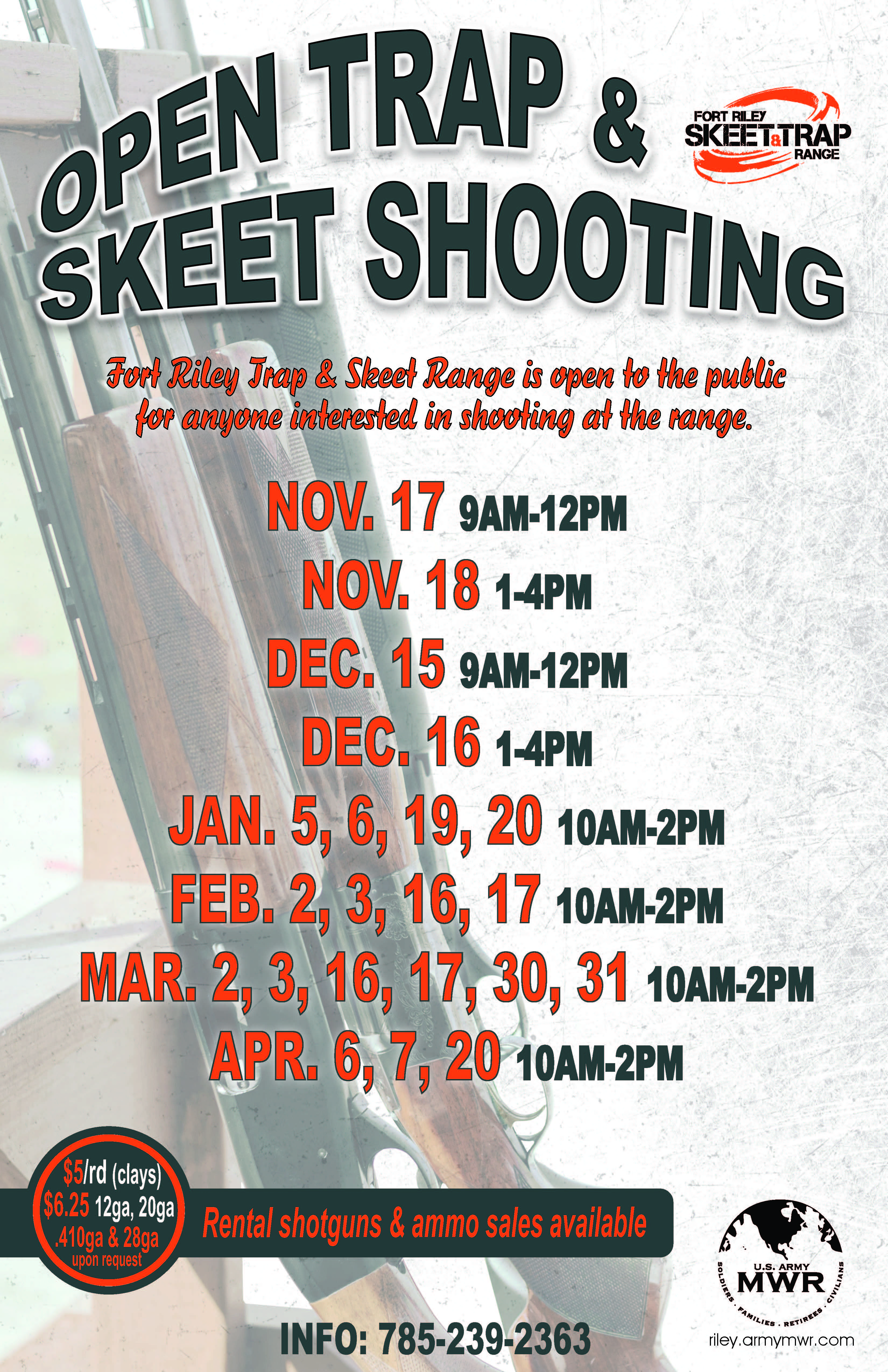 Open Trap and Skeet Shooting