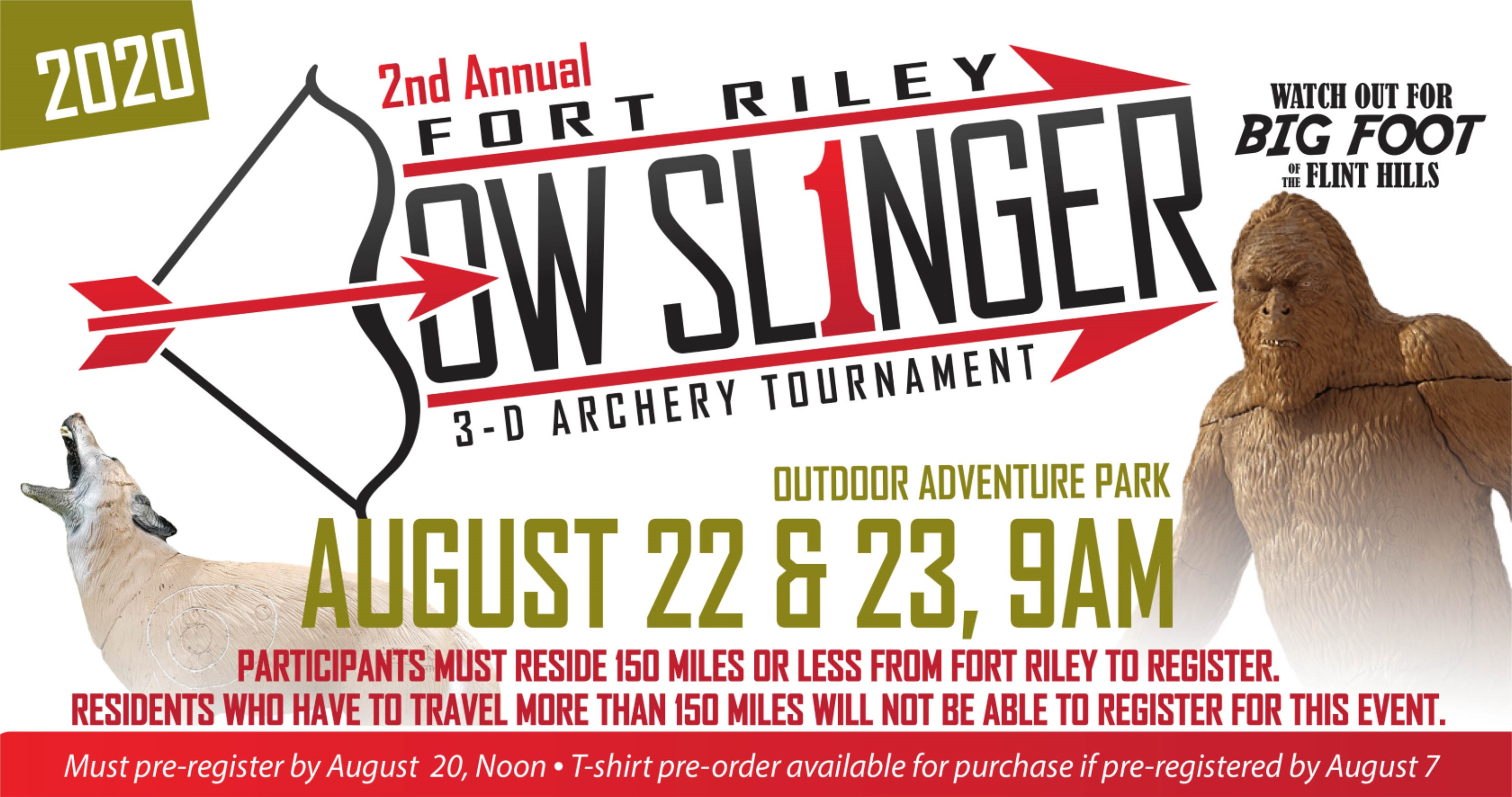 2nd Annual Bow Slinger 3-D Archery Tournament
