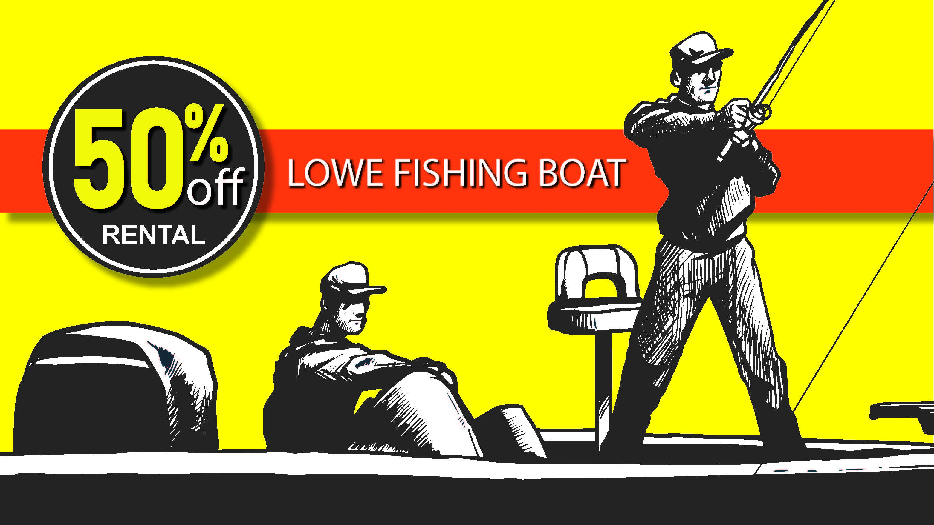 50% off Lowe Fishing Boat Rentals