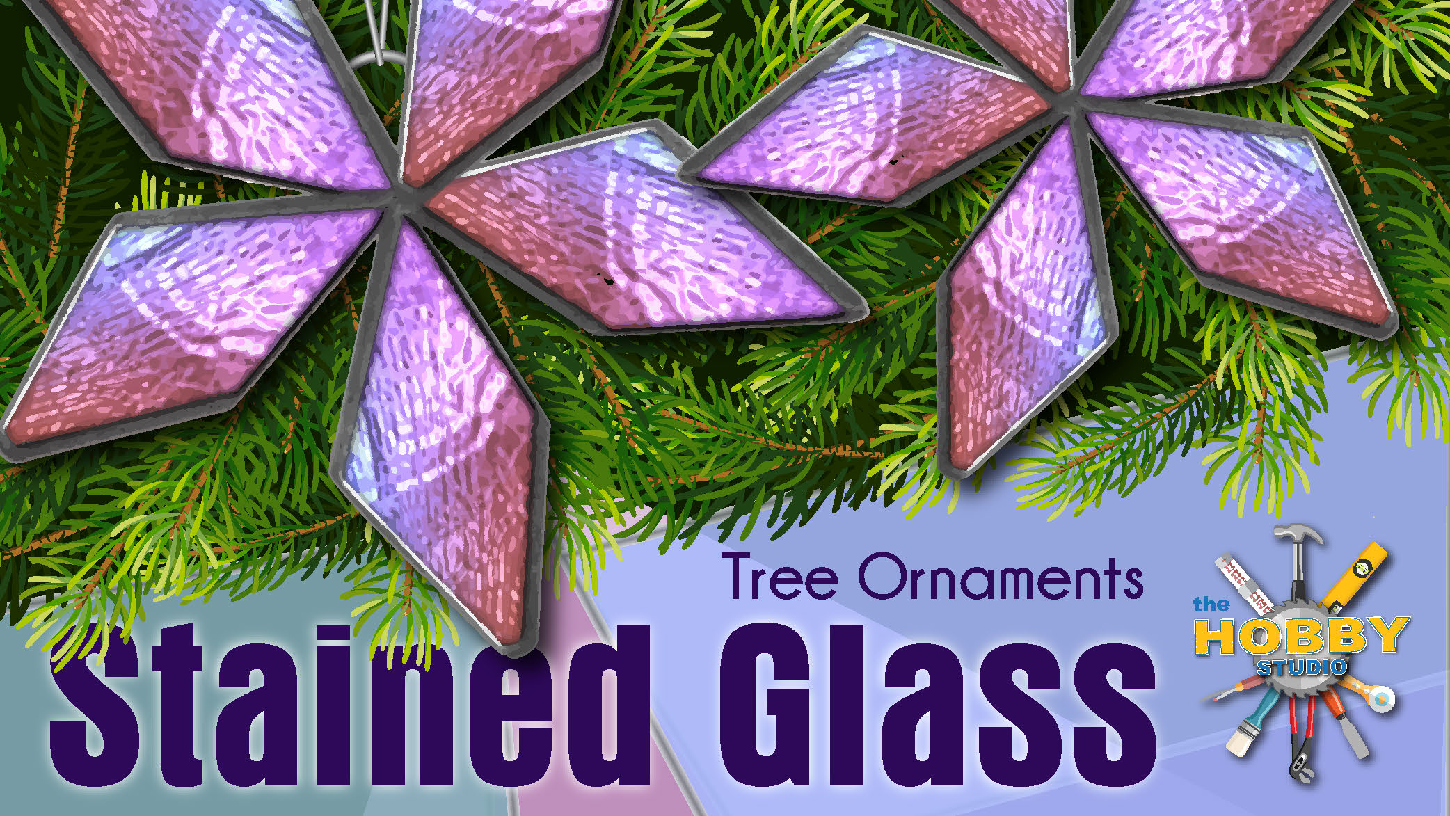 Stained Glass Tree Ornaments
