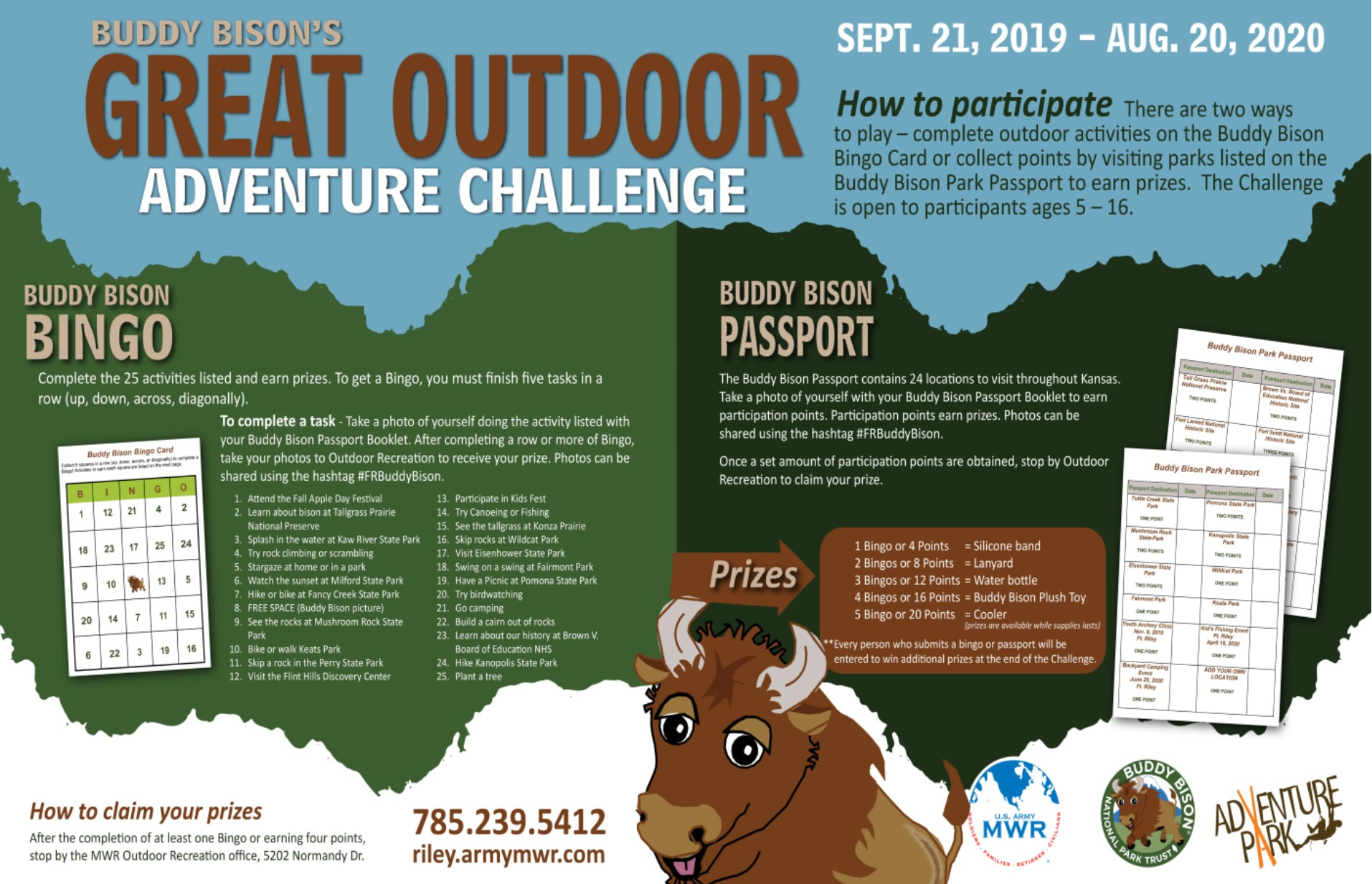 Buddy Bison's Great Outdoor Challenge